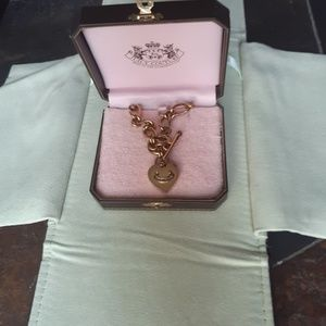 Juicy Couture heart locket necklace with box
